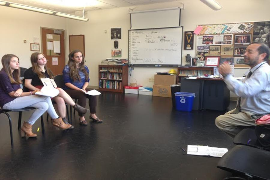 Upper+School+begins+rehearsals+for+the+fall+production.