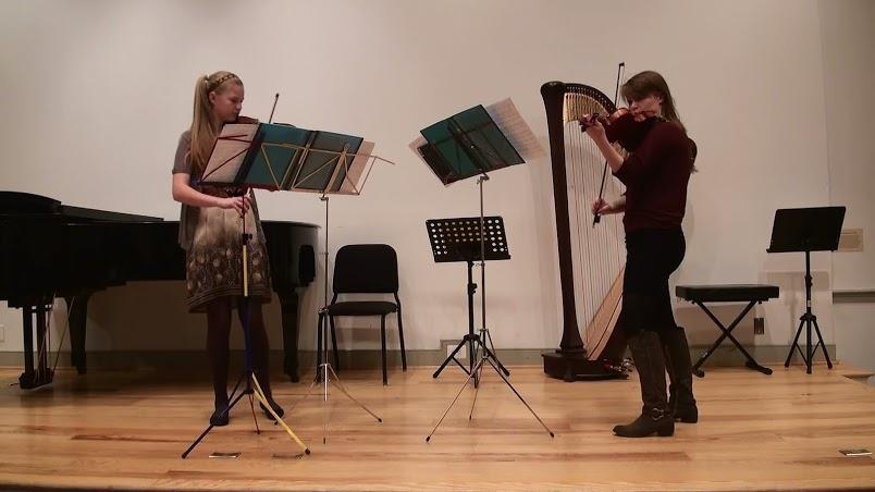 The+Ebersohl+sisters+perform+at+a+recital.