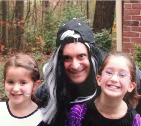 Olivia Stiebel poses with her father and sister Alex on Halloween, 2001. Photo Credit: Photo Credit: Olivia Stiebel