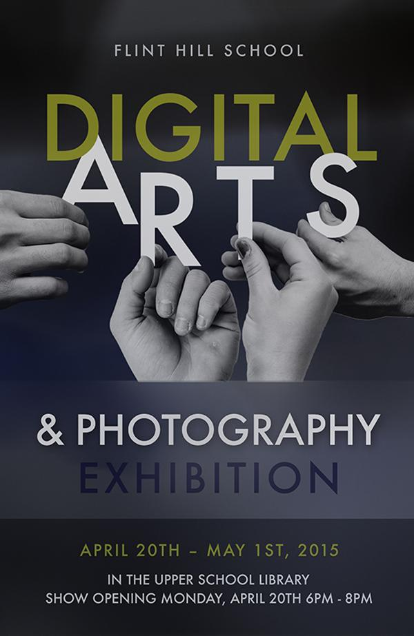 Senior Sean Penayi designed this promotional poster for the 2015 Digital Arts & Photography Exhibition.