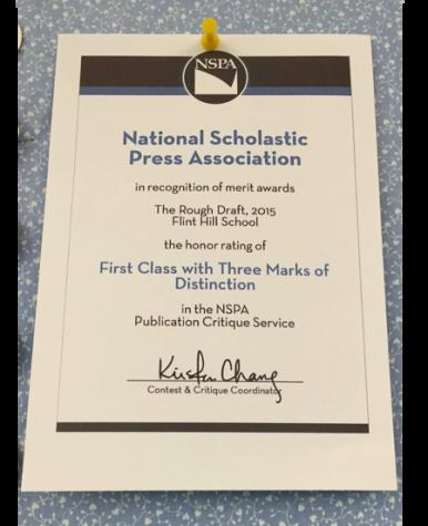 "Far from a ""Rough Draft,"" Flint Hill's literary magazine wins national award"