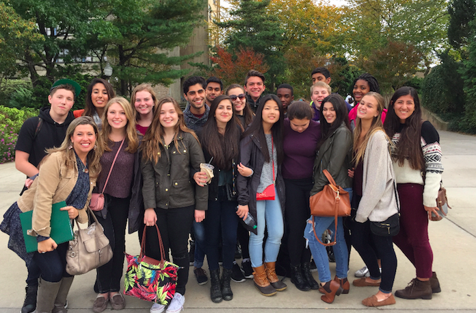 Majors Minors, featured here at Hofstra University, visited New York City to workshop with various a capella groups.
