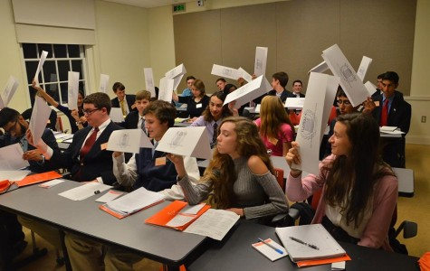 Flint Hill students debate at the 2015 VAMUN conference