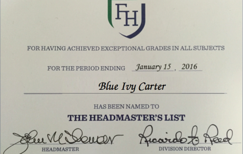 A fair Headmaster's List would be based on GPA, not letter grades