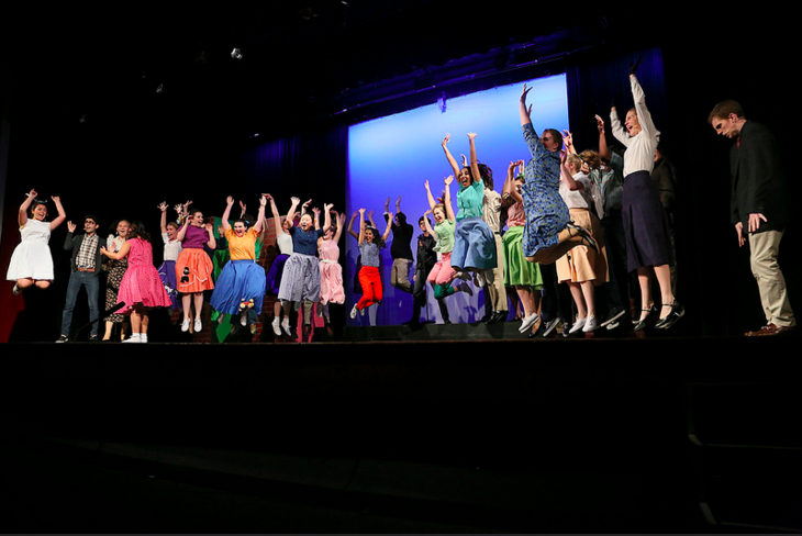 The cast of the 2015's Upper School Musical,