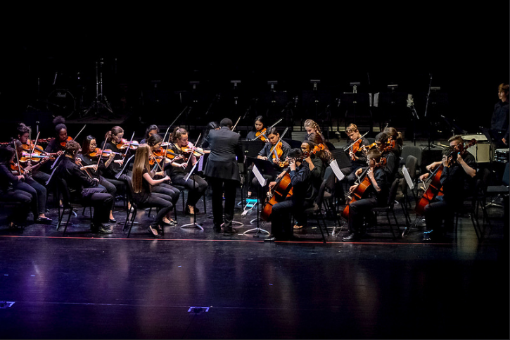 Flint+Hill%27s+orchestra+performs+at+the+2016+Arts+Jam.