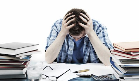 Student stress skyrockets at the end of first quarter