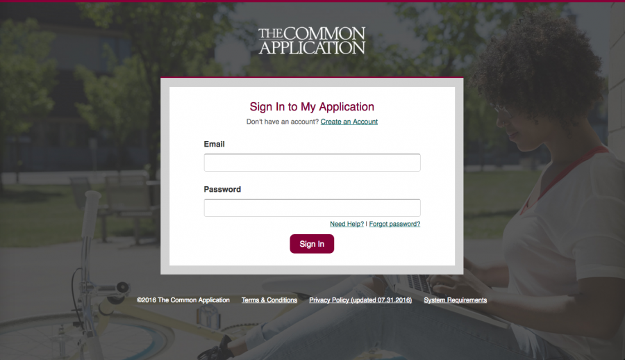 The Common Application login picture; or, a sign of impending applications being due, based on perception.