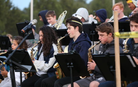 Combined Band Entertains at the Bonfire