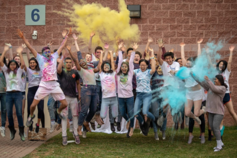 Students kick off spring with a colorful Holi celebration